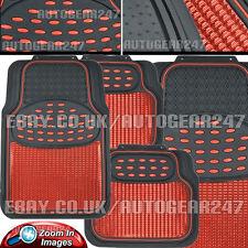 Set Of All Terrain Black Rubber Car Floor Tray Mats Heavy Duty Protectors
