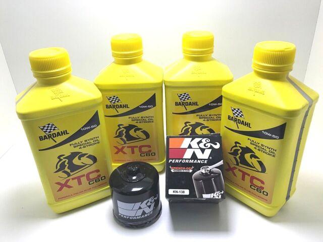 Entretien Bardahl XTC C60 10W50 + Filtre K&n 138 Suzuki GSX R 1000 2001 2002