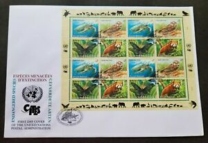[SJ] United Nations Endangered Species 1998 Owl Turtle Butterfly Bird (FDC)