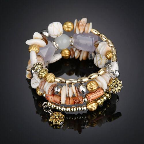 Fashion Jewelry Women Multi Agate Natural Stone Beads Turquoise Bracelet Bangle