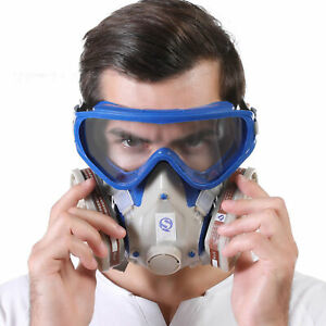 RESPIRATOR GAS  FULL FACE COVER PAINT SPRAYING CHEMICAL SAFETY  OPULENT