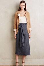 NEW Anthropologie Erika Cavallini Semi Couture Ismene Denim Skirt Size Small
