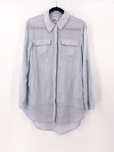 Anthropologie-Holding-Horses-Tunic-Shirt-Size-XS-Sun-Washed-Light-Blue
