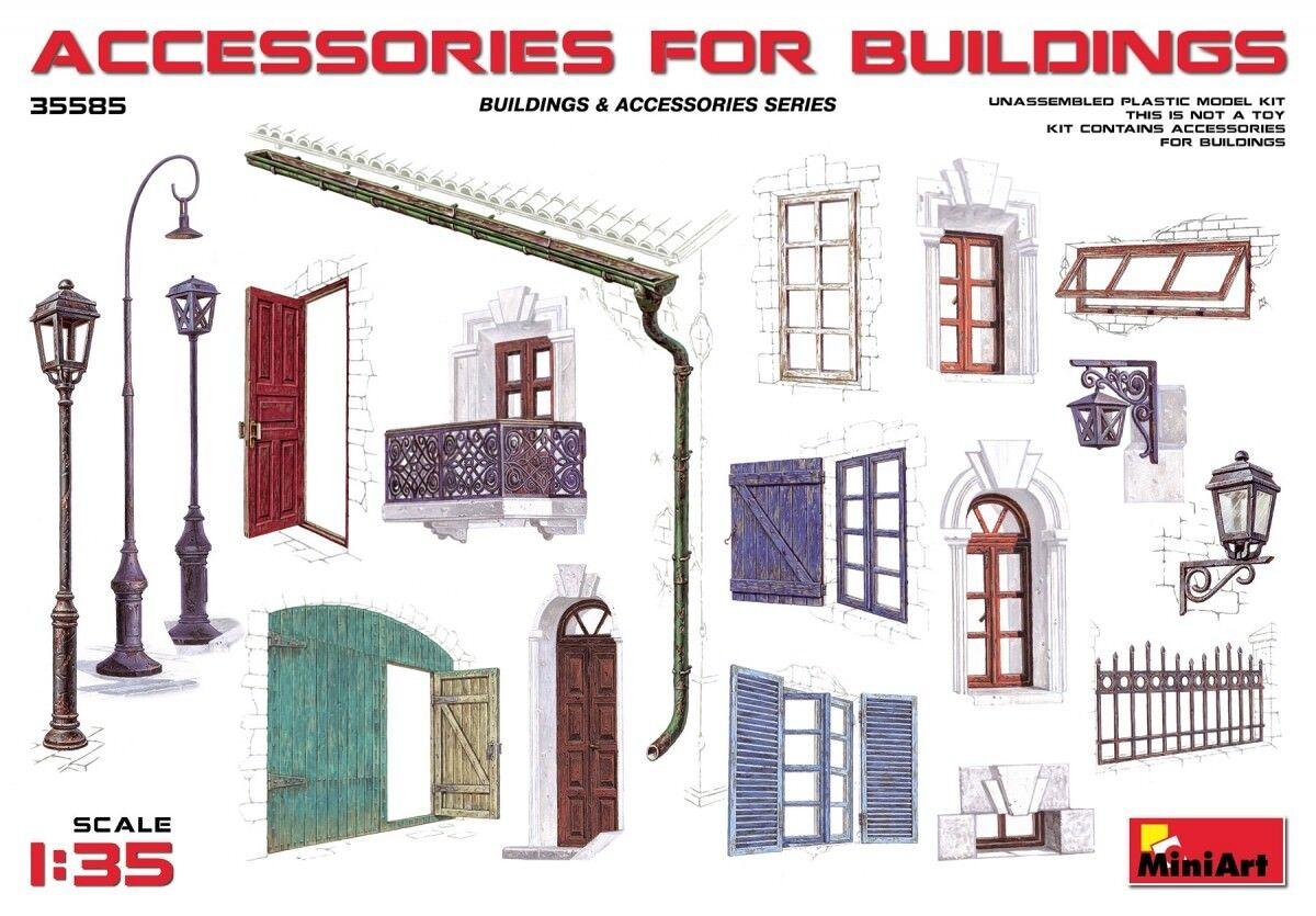 Minikonst 35585 - 1  35 Tillbehör till byggnader - skala Plastic modellllerler Kit