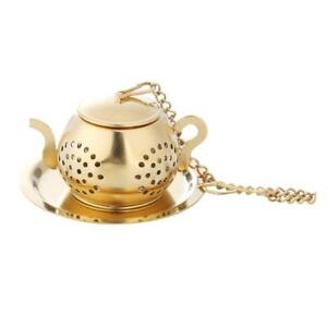 Gold-Stainless-Steel-Tea-Spoon-Infuser-Holder-Filter-Tea-Strainer-with-Base-R1BO