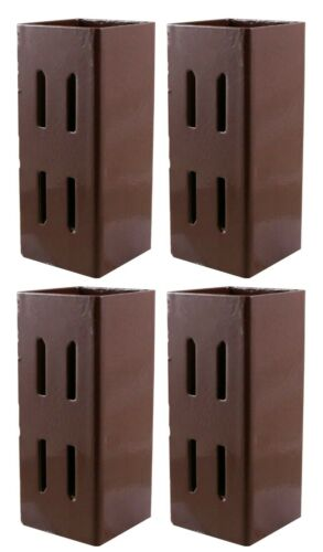 """Fence Holder Support 3/"""" Taurus Post Extender Quick Fit Powder Coated 75 x75mm"""