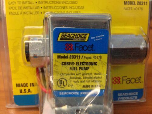 20311 SeaChoice Electronic Fuel Pump Cube KIT 5.0-3.5 PSI  19 GPH 12V 40176