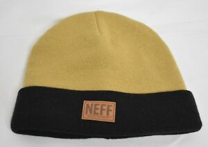 0e1d1d44bd4 Unisex Mens Neff Tan-Black Buffian Beanie Winter Knit Hat New NWT