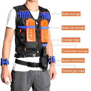 Kid Tactical Vest Kit for Nerf Guns N-Strike Elite Series-Black Vest,