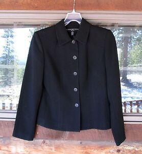 8e0929f4c0c Josephine Chaus Blazer Jacket Sz 4P Black Lined Career Polyester ...
