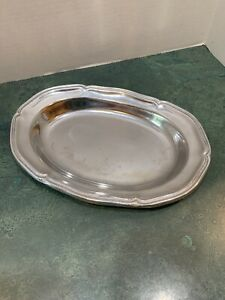 Vintage-WILTON-Columbia-PA-USA-10-034-Queen-Anne-Pewter-Serving-Platter-Polished