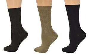 Sierra-Socks-Women-Cable-Crew-Dress-Casual-3-Pair-Pack-Bamboo-Socks-W214-B174