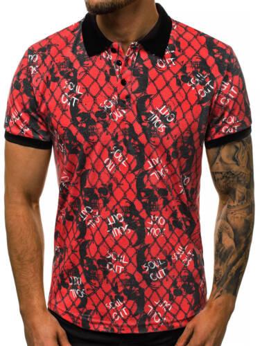 Poloshirt Polohemd Polo T-Shirt Kurzarm Kentkragen Herren OZONEE O//OZ137