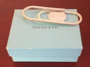 RARE-TIFFANY-amp-CO-STERLING-SILVER-LARGE-PAPER-CLIP-MONEY-CLIP