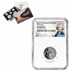 2020-W Reverse Proof Jefferson Nickel NGC PF 69 ER (Jefferson Label, US Set)