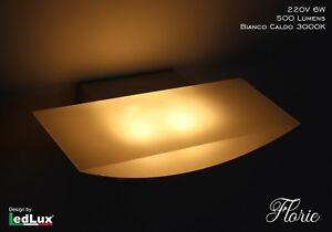 Applique led wall model florie italian design modern w warm white