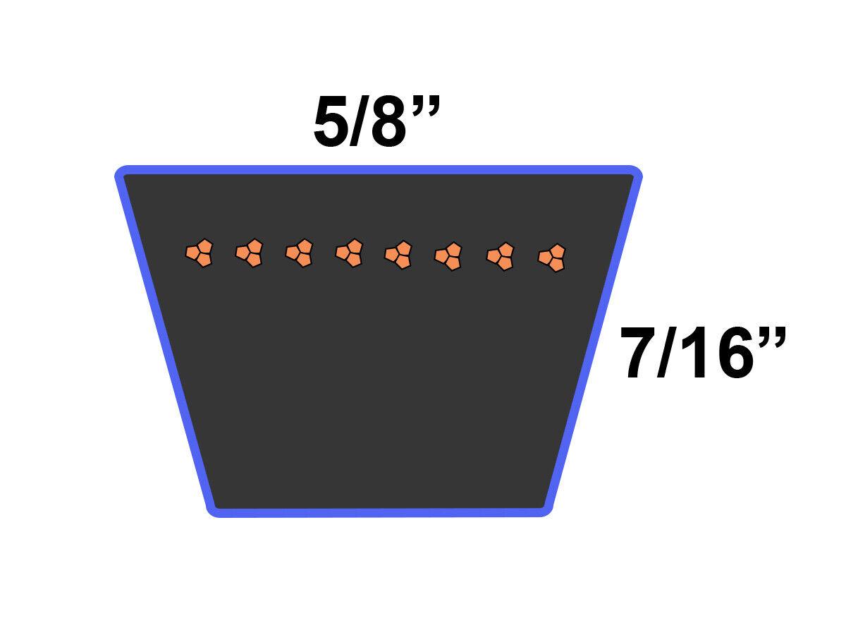 1 Aramid D/&D PowerDrive 754-04048 MTD or CUB Cadet Kevlar Replacement Belt