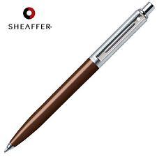 SHEAFFER Sentinel BLACK Refill Ballpoint Ball Pen Brown & Chrome Barrel GIFT BOX