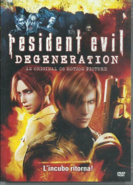 1 DVD FILM HORROR ZOMBIE GAME MOVIE,RESIDENT EVIL DEGENERATION bio hazard,leon,x