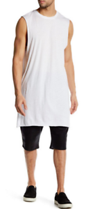Drifter Alec Cotton Muscle Tee White L NWT
