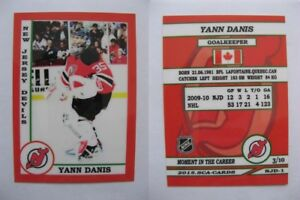 2015-SCA-Yann-Danis-New-Jersey-Devils-goalie-never-issued-produced-d-10-rare