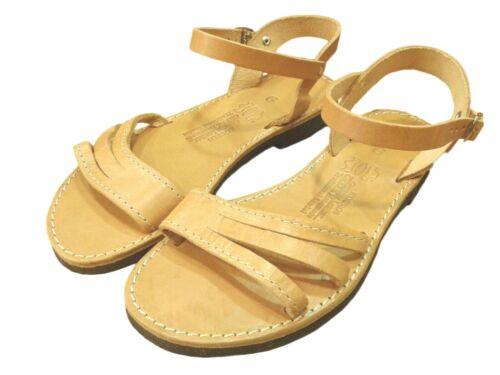 Ancient Greek Womens Sandals Gladiator Roman Handmade Genuine Leather Shoes Flat