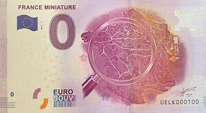 BILLET-0-EURO-FRANCE-MINIATURE-FRANCE-2017-NUMERO-100