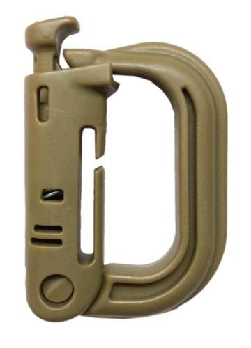 ABS accesorio táctical lock 2 Soportes mosqueton tactico molle D Tan
