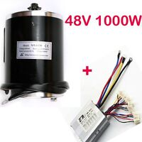 1000 W 48v Dc Brush Electric Motor 11t + Speed Controller Ebike E-scooter Atv Us