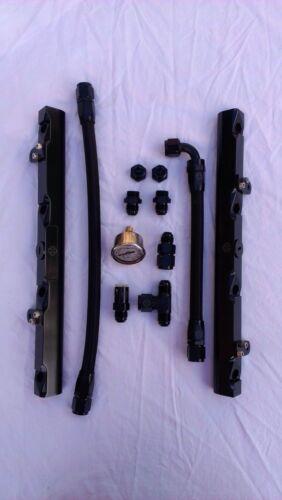 Z951a LS1 LS6 POLISHED T /& GM 8AN fuel rail kit w// fittings