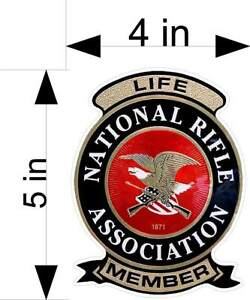 NRA-LIFE-MEMBER-window-laptop-car-truck-vehicle-decals-stickers