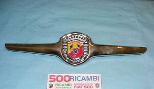 FIAT-500-F-L-R-MASCHERINA-METALLO-CROMATO-APERTA-STEMMA-LOGO-ABARTH-SPOTIVO