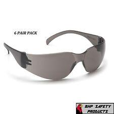 6 Pair Pyramex Intruder Safety Glasses Smokegray Lens Sunglasses S4120s Z87