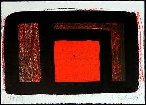 Rotes-Quadrat-1991-Kombinationsdruck-Bernd-HAHN-1954-2011-D-handsigniert