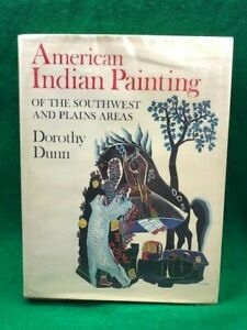 AMERICAN-INDIAN-PAINTING-of-SW-Plains-Areas-1968-Stated-First-DUNN-Signed-ART