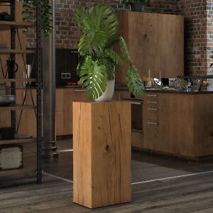 holzklotz beistelltisch eiche massivholzblock dekos ule holzblock holzs ule ebay. Black Bedroom Furniture Sets. Home Design Ideas