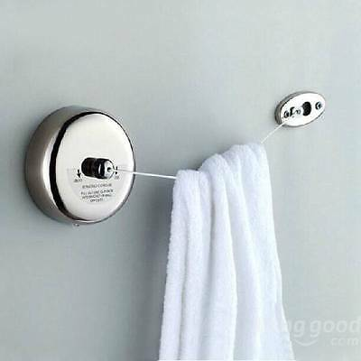 2.5m Stainless Steel Retractable Indoor Clothes Line For Bedroom Bathroom Hotel