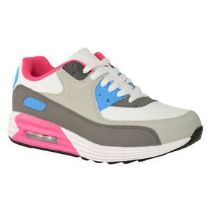 newest 9caed a41b2 La imagen se está cargando Mujer-senoras-Boost-Blanco-Zapatillas -Sneakers-Gimnasia-Deportes-