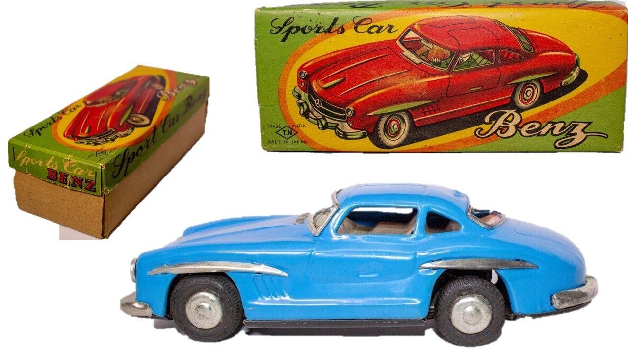 Vintage Selten Blech Reibung 1960 Gullwing Mercedes Benz Sport Coupe W   Kiste