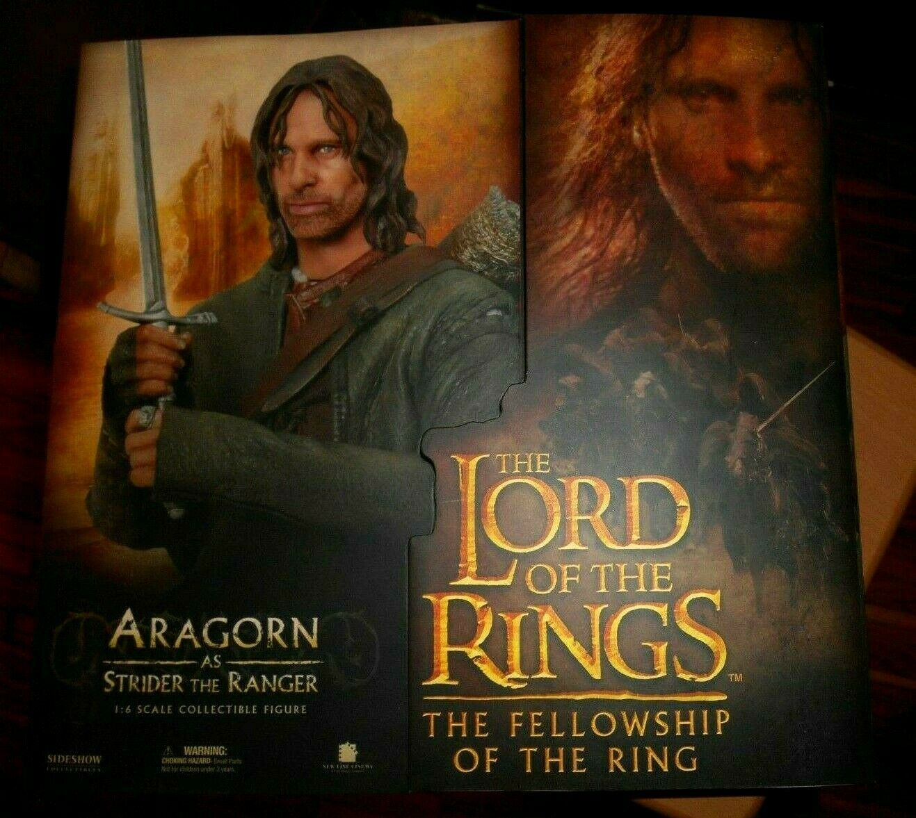 LORD RINGS ARAGORN SIDESHOW 1.6 Scale Collectable Figura SIGNORE ANELLI LOTR