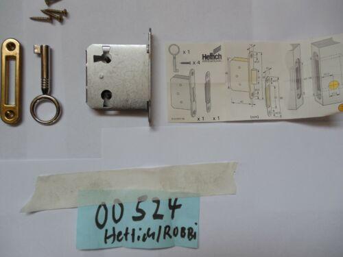 Hettich 524 ROBBI gleichschließend 00524 Einsteck Schloß Dornmaß 30mm
