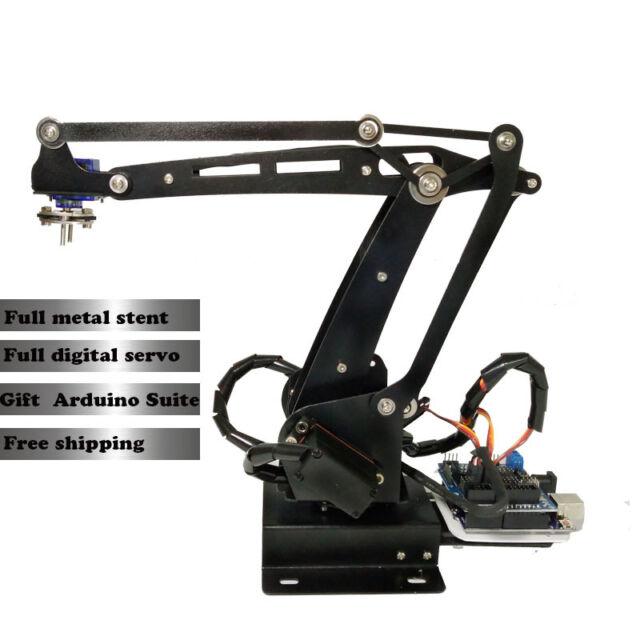 Robot Manipulator Metal Alloy Mechanical Arm Clamp Claw Kit Arduino