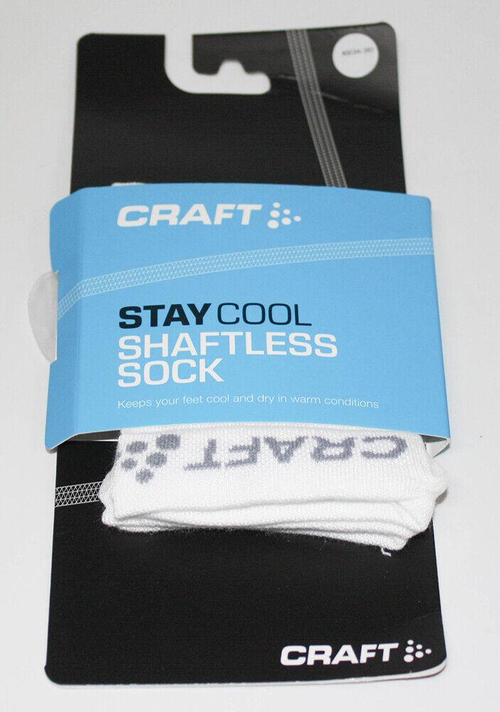 Craft Chaussettes Running Basse Cool Socken Weiß XS 34-36