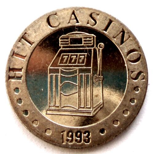 SLOVENIA NOVA GORICA HIT CASINOS 1993 UNC Token 21.2mm 5.3g Brass II6.3