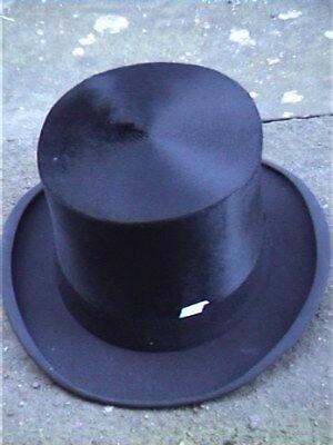Antico London Nero Silk Top Hat Sz 7 1/8.-