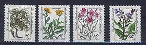 ALEMANIA-RFA-WEST-GERMANY-1983-MNH-SC-B611-B614-Flowers
