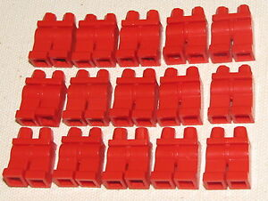 LEGO LOT OF 50 RED PANTS MINIFIGURE LEGS GIRL BOY CITY TOWN FIGURE PARTS