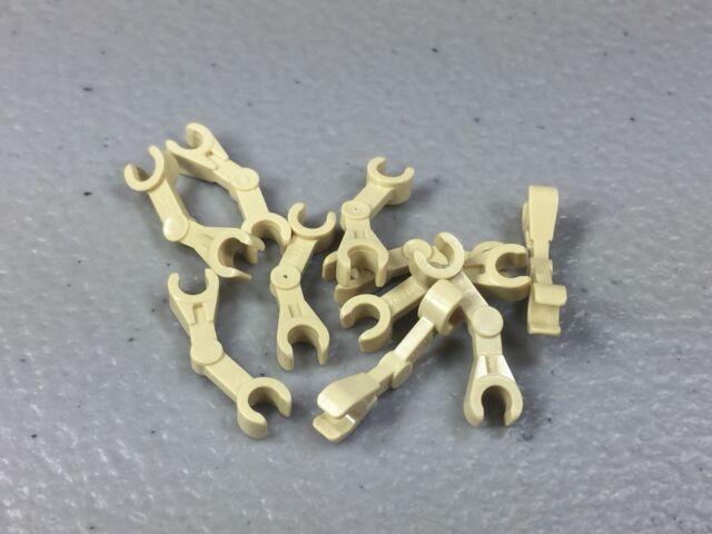beige, tan Skeleton Arm Mechanical NEUF NEW 4 x LEGO 30377 Bras Droid Robot
