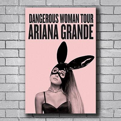 Ariana Grande Dangerous Woman Album Silk Cloth Art Poster Decor 19L