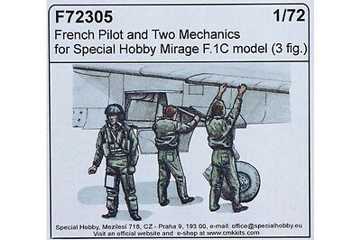 CMK F72305/Figurine French pilot and Two Mechanics F.1//72/Special Hobby Mirage F.1//°C Model